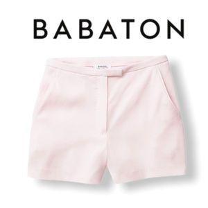 Babaton Pale Pink Dress Shorts